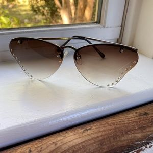 Free People Grey Butterfly Sunglasses